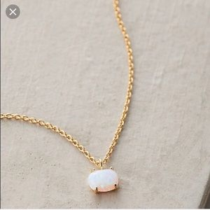 Anthropologie Mini Opal Necklace